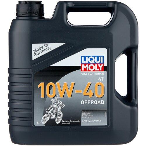 Полусинтетическое моторное масло LIQUI MOLY Motorbike 4T Offroad 10W-40 4 л моторное масло liqui moly motorbike 4t synth offroad race 10w 60 1 л