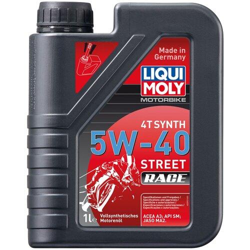Синтетическое моторное масло LIQUI MOLY Motorbike 4T Synth Street Race 5W-40 1 л моторное масло liqui moly motorbike 4t synth offroad race 10w 60 1 л