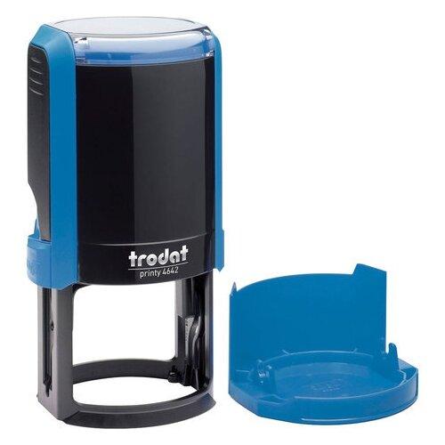 Фото - Оснастка для печати, оттиск D=42 синий, TRODAT 4642 PRINTY 4.0, корпус синий, крышка, 66584 нумератор trodat 4836 printy черный