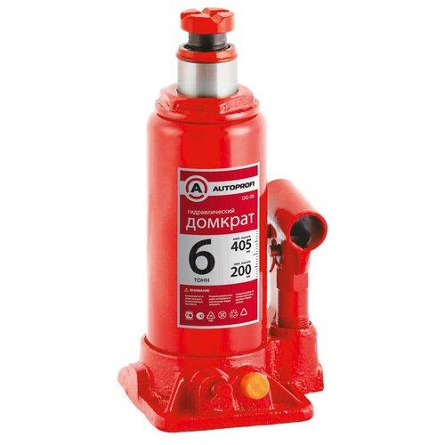 Фото - Домкрат бутылочный гидравлический AUTOPROFI DG-06 (6 т) красный аксессуары для автомобиля autoprofi домкрат бутылочный гидравлический 2 тонны dg 02k