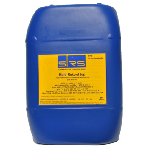Минеральное моторное масло SRS Multi-Rekord top 15W40, 20 л