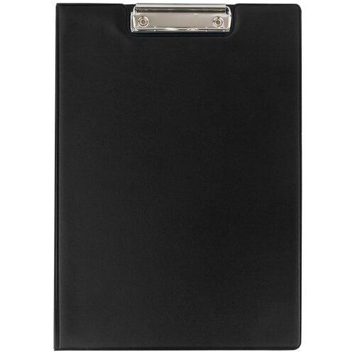 Купить ОфисМаг Папка-планшет с верхним прижимом и крышкой А4 черный, Файлы и папки