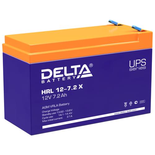 Фото - Аккумуляторная батарея DELTA Battery HRL 12-7.2 X 7.2 А·ч аккумуляторная батарея delta battery gel 12 33 33 а·ч