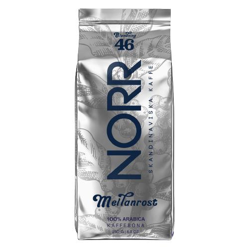 Кофе жареный в зёрнах, NORR MEILANROST Blendning 46, 250 гр.