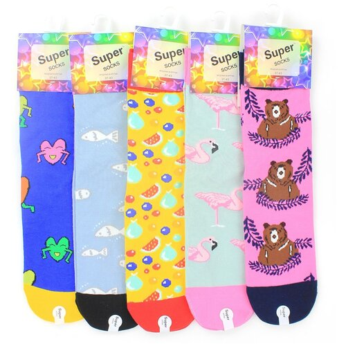 Женские носки Super Socks LTB-210-35 хлопок р 37-43 5 пар