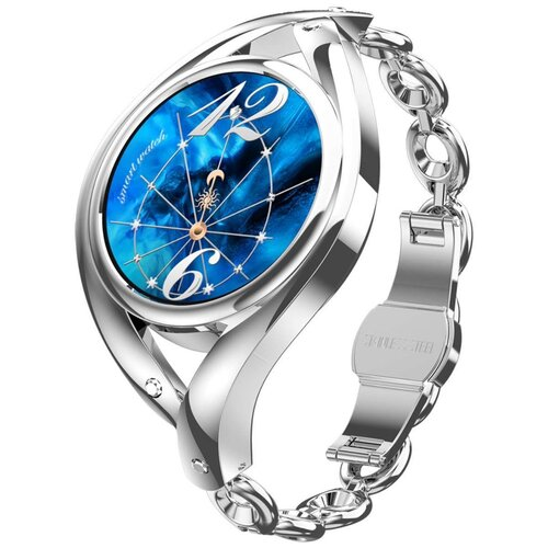 Смарт часы женские Lemfo LEM1995 с пульсоксиметром (серебристый)
