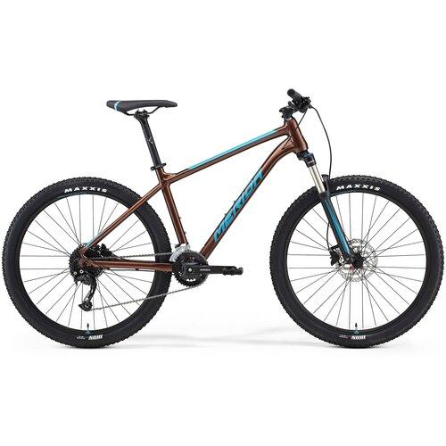 Фото - Горный (MTB) велосипед Merida Big.Seven 100-2x (2021) bronze/blue L (требует финальной сборки) велосипед cube elite c 68 race 29 2x 2016
