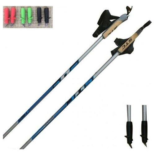 Фото - Лыжные палки CYBER 60 % карбон 130 mm-150mm с твердосплавным наконечником STC 135 см лыжные палки stc алюминий с твердосплавным наконечником stc 170 170 см