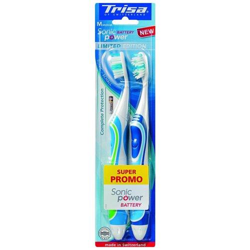 Электрическая зубная щетка Trisa Sonicpower Battery 2 шт.(666700-Blue-Green)