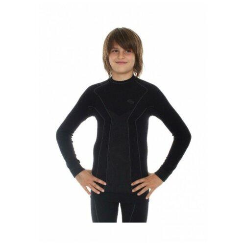 Термобелье для мальчиков Brubeck футболка с длинным рукавом THERMO черная 128-134