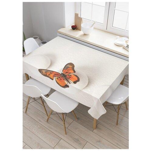 Фото - Скатерть прямоугольная Прыгучая бабочка из сатена, 120x145 см, tc-16368 штора для ванной joyarty прыгучая бабочка 180х200 sc 16368