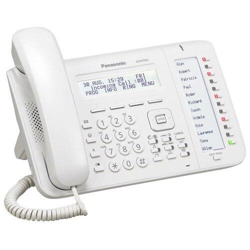 VoIP-телефон Panasonic KX-NT553 белый voip телефон panasonic kx nt553 черный