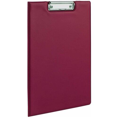 ОфисМаг Папка-планшет с верхним прижимом и крышкой А4 бордовый