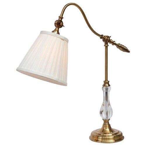 Лампа декоративная Arte Lamp Seville A1509LT-1PB, E27, 60 Вт, цвет арматуры: медный, цвет плафона/абажура: белый