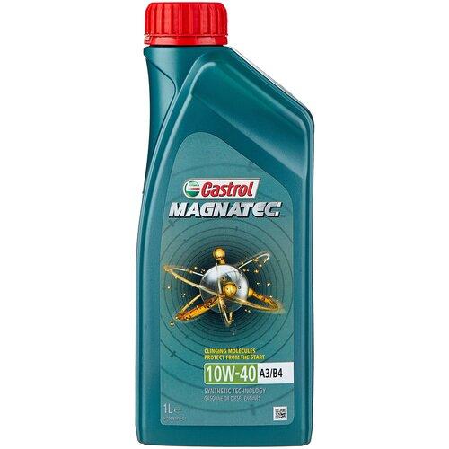 Фото - Полусинтетическое моторное масло Castrol Magnatec 10W-40 А3/В4, 1 л полусинтетическое моторное масло castrol vecton 10w 40 7 л
