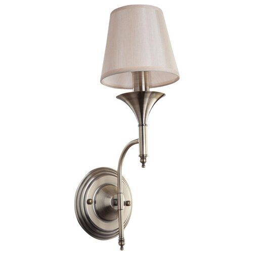 Настенный светильник FREYA Dalia FR2005WL-01BZ, E14, 40 Вт, кол-во ламп: 1 шт., цвет арматуры: бронзовый, цвет плафона: бежевый