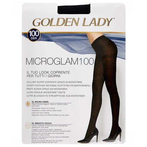 Колготки Golden Lady Microglam, 100 den, размер 3-M, nero (черный) колготки golden lady microglam 70 den размер 3 m nero черный
