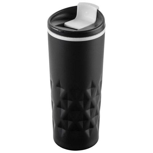 Термокружка molti Relief, 0.4 л черный/белый