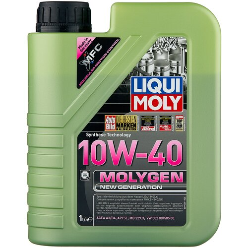 Фото - Полусинтетическое моторное масло LIQUI MOLY Molygen New Generation 10W-40, 1 л моторное масло liqui moly molygen new generation 10w 40 4 л
