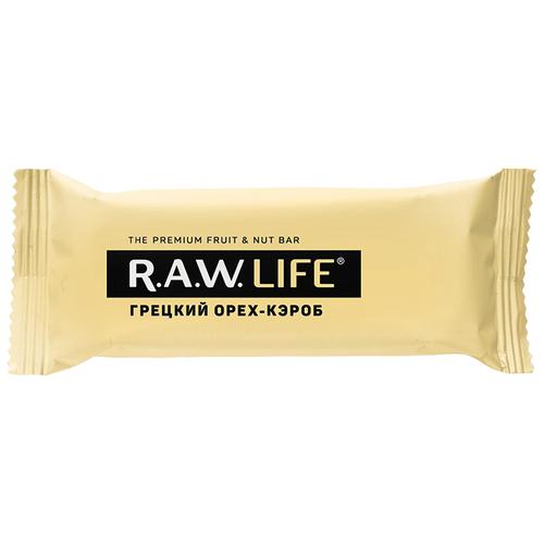 Фото - Фруктовый батончик R.A.W. Life без сахара Грецкий орех-Кэроб, 47 г фруктовый батончик r a w life без сахара кешью 47 г