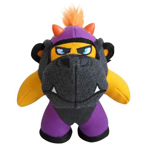 Фото - Игрушка для собак GiGwi Duraspikes Обезьянка маленькая (75446) желтый/серый/фиолетовый игрушка для собак gigwi push to mute сова 75322 фиолетовый