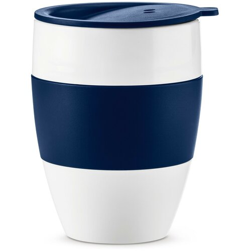 Термокружка Koziol Aroma to go 2.0, 0.4 л белый/синий