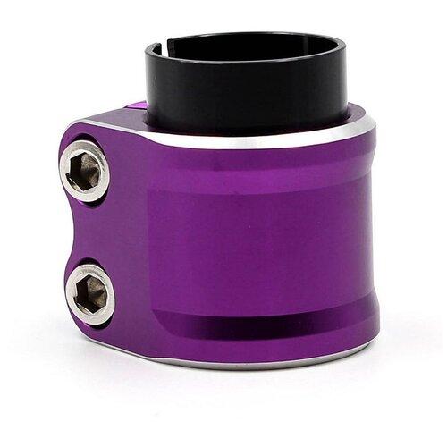 Хомут для самоката LDR HIC/IHC 01 фиолетовый 2 болтовый