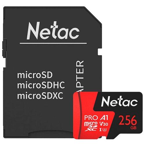 Фото - Карта памяти Netac P500 Extreme Pro 256 GB, чтение: 100 MB/s, адаптер на SD карта памяти netac p500 extreme pro 128 gb чтение 100 mb s