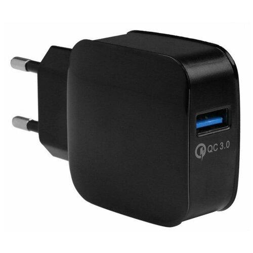 Сетевое зарядное устройство EnergEA Ampcharge USB QC3.0 18W цвет Черный