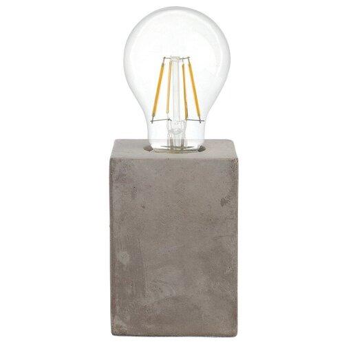 Лампа декоративная Eglo Prestwick 49812, E27, 60 Вт, цвет арматуры: серый настольная лампа eglo almera 89116 60 вт