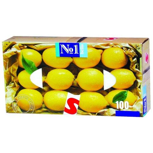 Платочки Bella №1 с ароматом лимона, 100 шт.