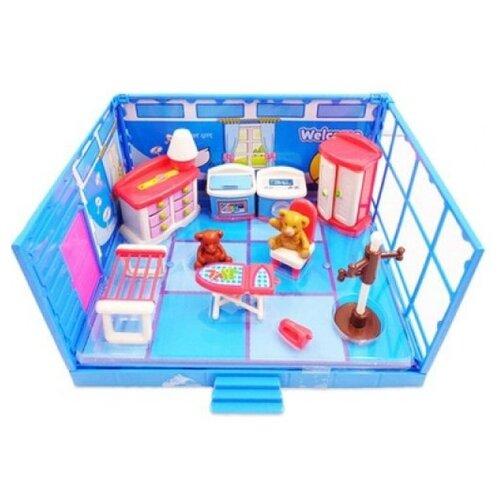 Игровой набор ABtoys Счастливые друзья - Гладильная комната PT-00908 набор мебели счастливые друзья для кухни с аксесс abtoys