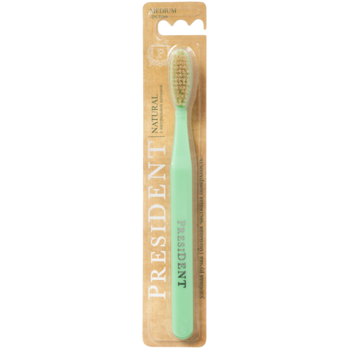 Зубная щетка PresiDENT Natural с натуральной щетиной Medium недорого