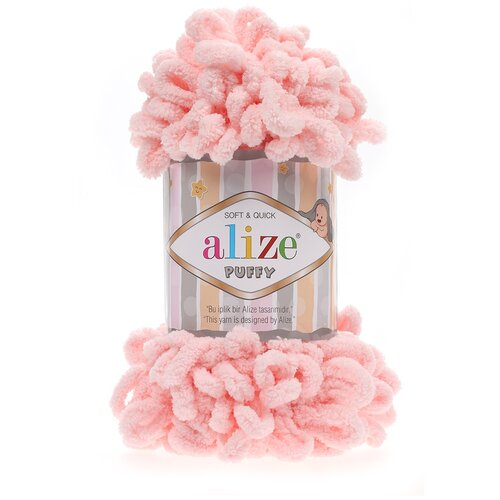Купить Пряжа для вязания Alize 'Puffy' 100г 9м (100% микрополиэстер) (340 пудровый), 5 мотков