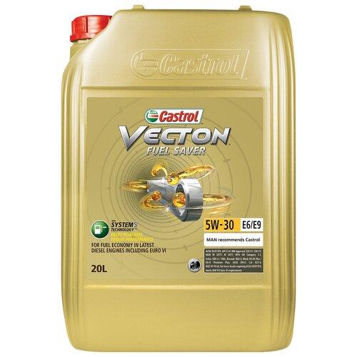 Фото - Синтетическое моторное масло Castrol Vecton Fuel Saver 5W-30 E6/E9, 20 л полусинтетическое моторное масло castrol vecton 10w 40 7 л