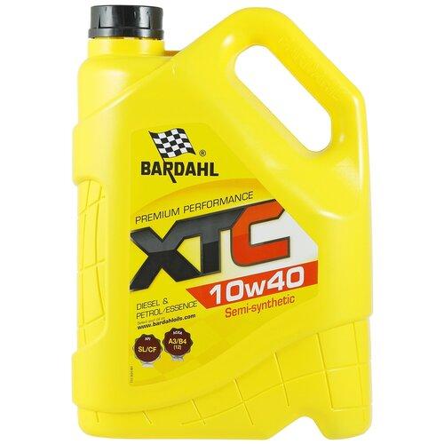 Полусинтетическое моторное масло Bardahl XTC 10W-40 SL/CF, 5 л полусинтетическое моторное масло bardahl xtc 10w 40 sl cf 4 л