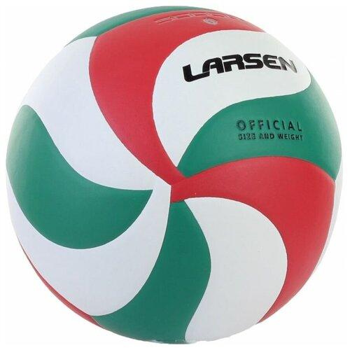Волейбольный мяч Larsen 5000G белый/зеленый/красный