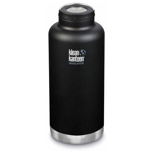 Термобутылка Klean Kanteen TKWide Loop Cap, 1.9 л shale black