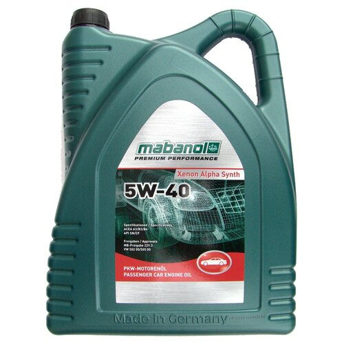 Синтетическое моторное масло Mabanol Xenon Alpha Synth 5W-40 4 л