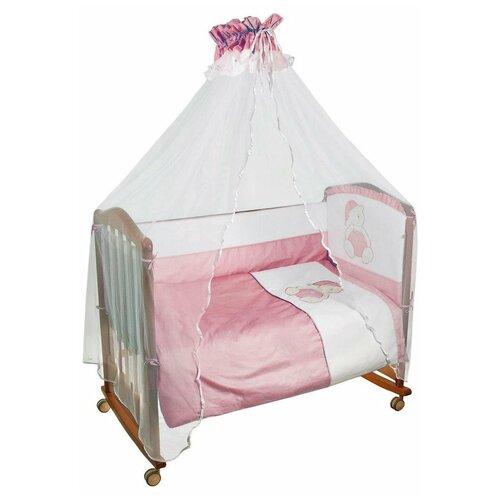 Купить Сонный Гномик комплект Мишка в колпачке (7 предметов) розовый, Постельное белье и комплекты