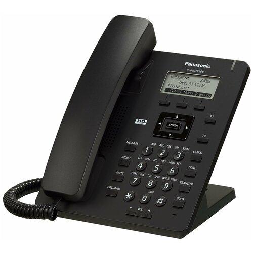 VoIP-телефон Panasonic KX-HDV100 черный voip телефон panasonic kx nt553 черный
