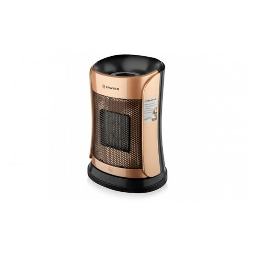 Тепловентилятор BRAYER BR4851 1500 Вт LED-дисплей пульт ДУ таймер 12 ч автоотключение вращающийся корпус 60 °