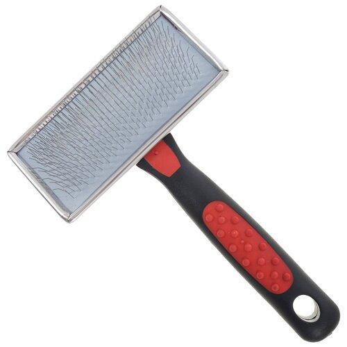 Щетка-пуходерка Hello PET 16811M, красный/черный щетка колтунорез hello pet 23809l черный красный