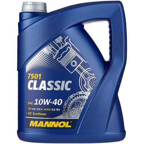 Фото - Полусинтетическое моторное масло Mannol Classic 10W-40 5 л минеральное моторное масло mannol multifarm stou 10w 40 20 л
