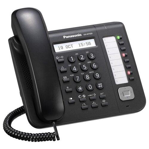 VoIP-телефон Panasonic KX-NT551 черный voip телефон panasonic kx nt553 черный