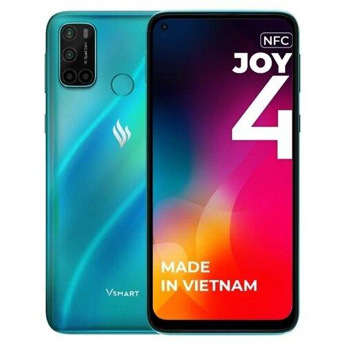 Смартфон Vsmart Joy 4 3/64GB, бирюзовый сотовый телефон vsmart joy 3 4 64gb purple topaz