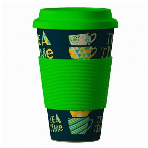 Тамблер BAMBOOCUP Eco Зеленый Чай, 0.4 л зеленый
