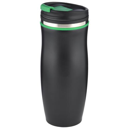 Термокружка Bekker BK-4389 / 4390 / 4391, 0.45 л черный/зеленый