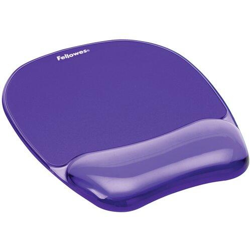 Коврик Fellowes BLUE CRYSTAL MOUSEPAD/WRISTREST FS-91141/FS-91441 фиолетовый