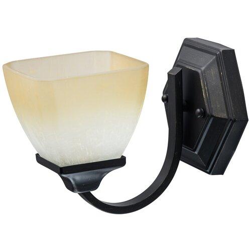 Настенный светильник MW-Light Замок 249028401, E27, 60 Вт, кол-во ламп: 1 шт., цвет арматуры: коричневый, цвет плафона: бежевый настенный светильник mw light свеча 683022301 60 вт